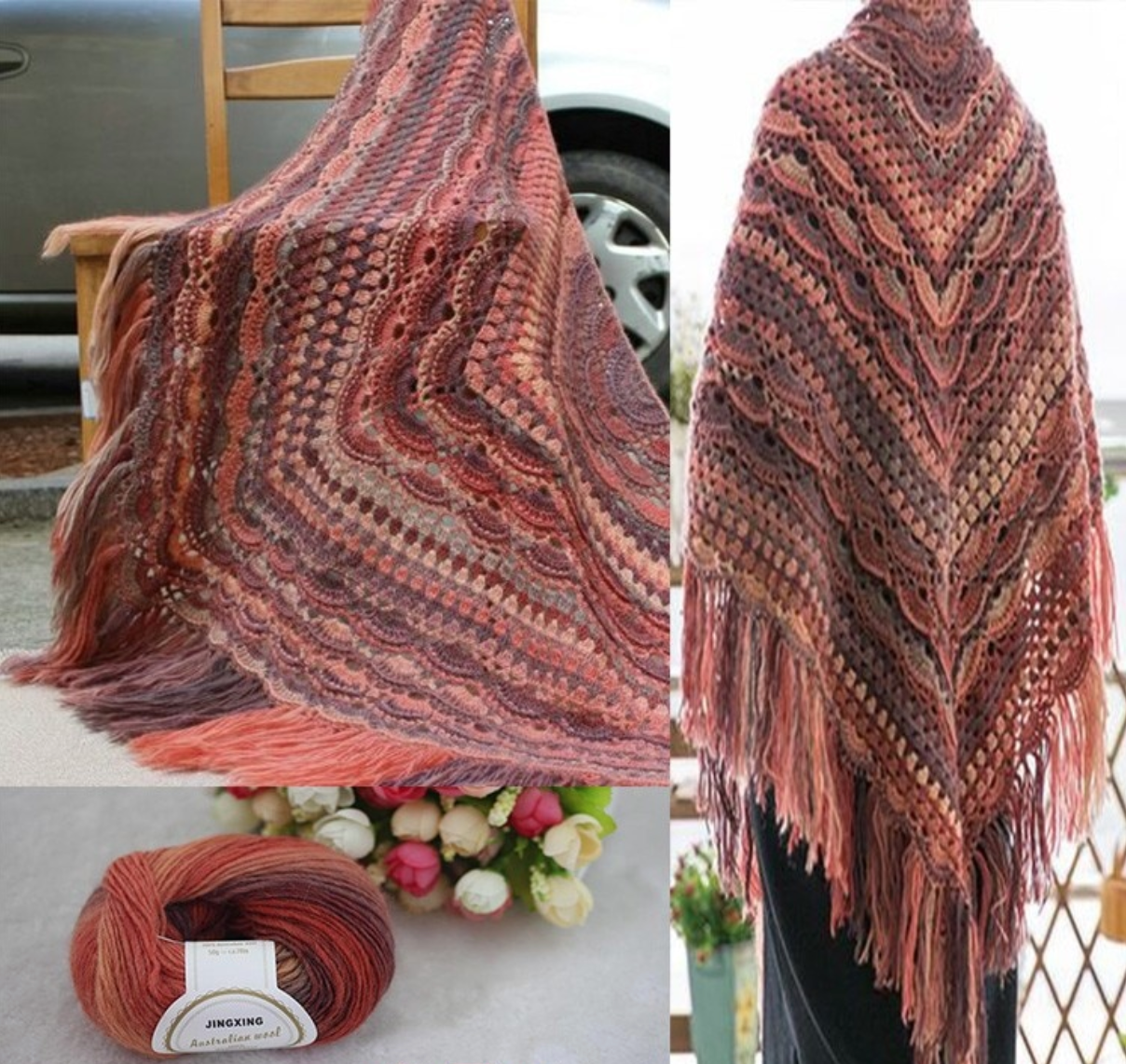 Winter Shawl from 100% Australian Wool.